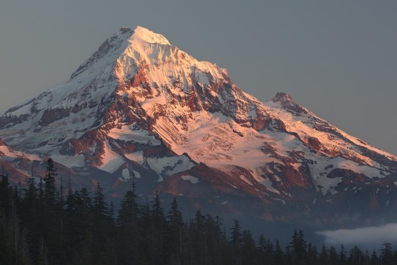 Evening Light Mt Hood